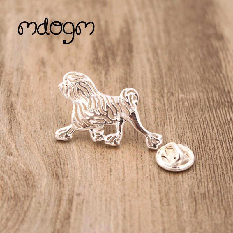Mdogm 2019 Carino Lowchen Cane Animale Spille E Spilli Vestito di Metallo Piccolo Padre Collare Distintivi e Simboli Divertente Regalo Per Gli Uomini di Sesso Maschile b115