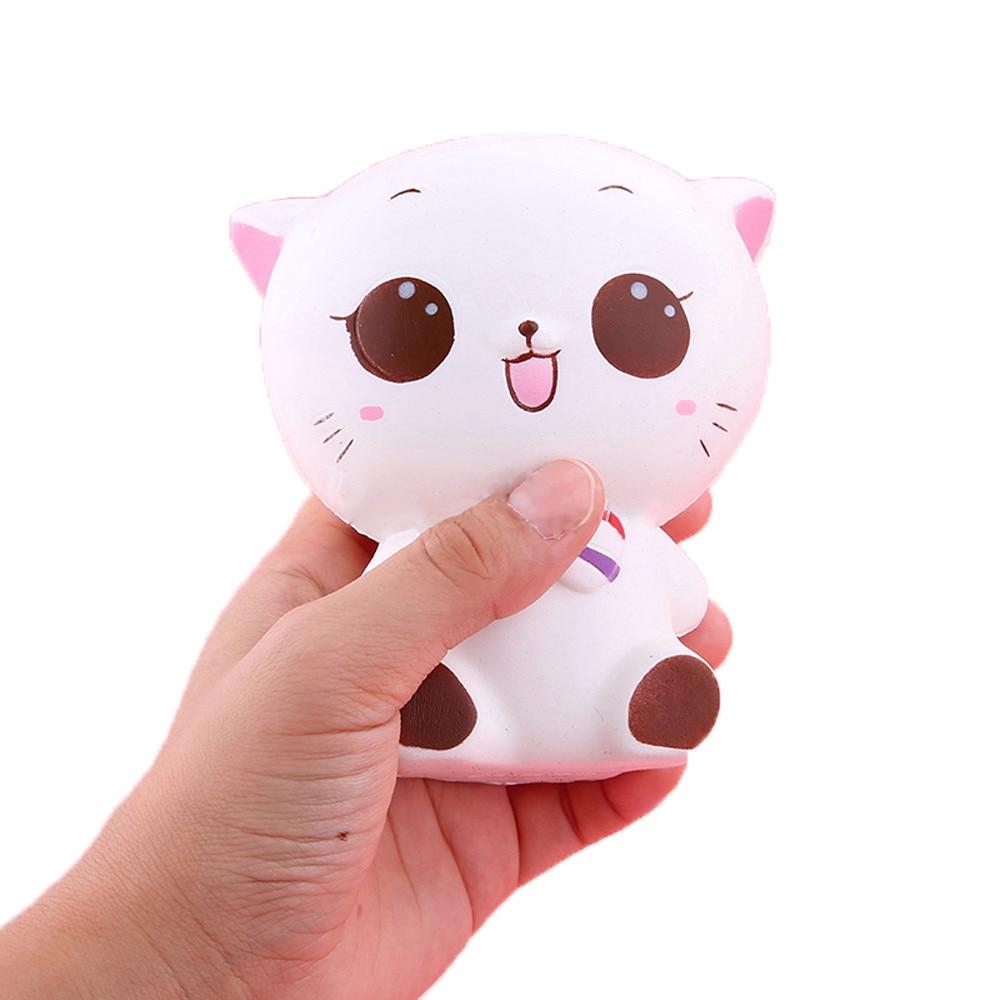 2018 New Kawaii Squishies Squishy Kitty Cat Doll Slow Rising Soft Pinch StressReliever Kid Antistress Toys Juegos De Mesa Drop
