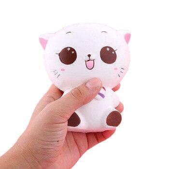 Muñeco de gato blando kawaii, juguete antiestrés para chico juguetes de mesa...