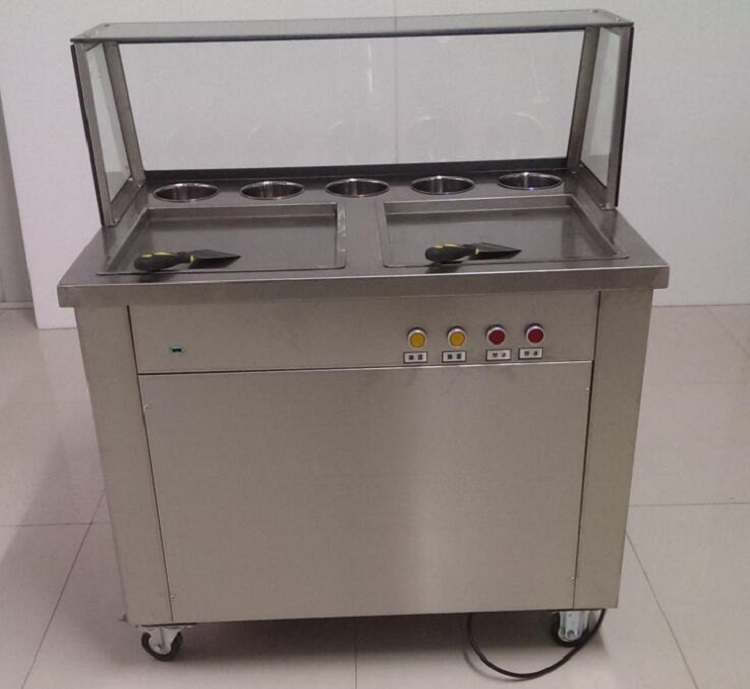 Fried Ice Cream Roll Machine Pan Fried Ice Cream Machines