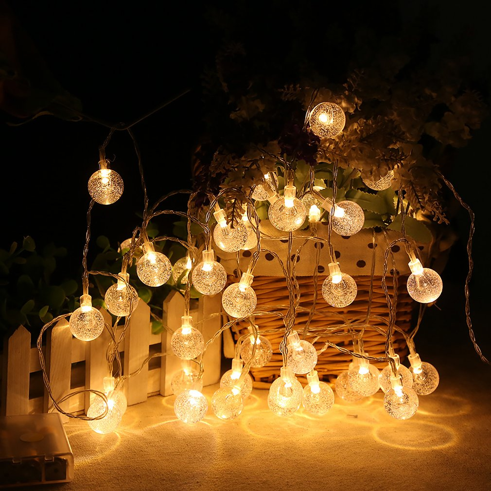 30 LED Crystal Ball Solar Powered Most Popular Globe Fairy Lights for Outdoor Garden Christmas Decoration for Outdoor Sale