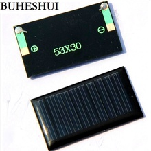 BUHESHUI 5V 30mA 53X30mm Micro Mini Small Power Solar Cells Panel For DIY Toy 3.6V Battery Charger Solar LED Light 10Pcs/Lot