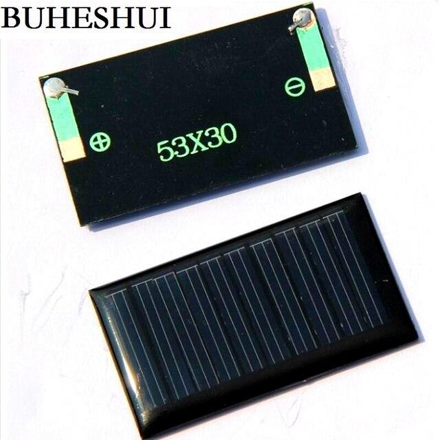 BUHESHUI 5V 30mA 53X30mm Micro Mini Small Power Solar Cells Panel For DIY Toy 3.6V Battery Charger Solar LED Light 10Pcs/Lot