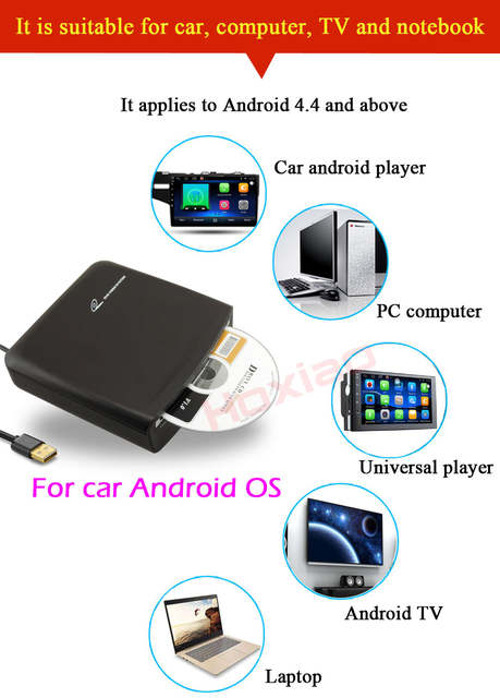 Car DVD CD player connection USB use Install APP for Android 4 4 / 5 1 /  6 0 / 7 1 support all android system