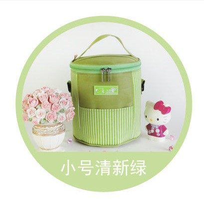 Круглая двойная молния изоляция обеда сумки Сумка Ланч сумка кулер сумка - Цвет: Армейский зеленый