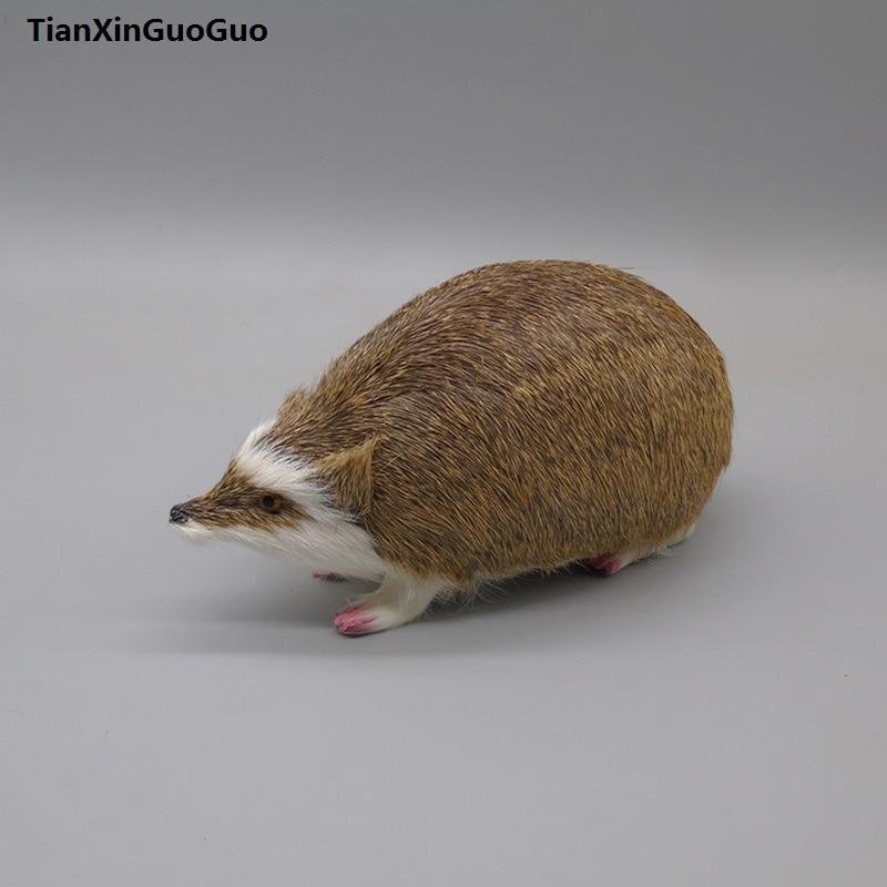 simulation hedgehog hard model teaching prop,large 20cm,polyethylene&furs hedgehog handicraft home decoration gift s0451