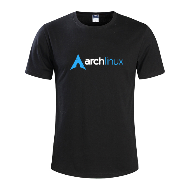 2017 new summer fashion Ubuntu arch linux Mens T-SHIRT Geek NERD freak hacker pc gamer systems programmer males tees over size