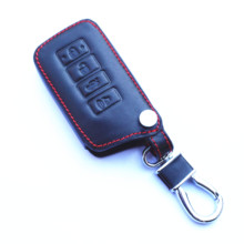 Genuine Leather 4 Buttons Key Chain Holder Cover Case Fob For Lexus ES IS GS NX LS RX RC 300h 350 200t 250 300 F 450h 460 600h