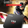 LED Smart TV CAIXA V88 4 K Android 5.1 Smart TV Box Rockchip 3229 KODI 1G/8G USB 4 4 K 2 K WiFi Full Loaded Quad Core1.5GHZ KODI Medi
