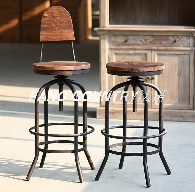 bauernhaus eisen rustikal holz farbe die retro reiben rost nachahmung barhocker barstuhl. Black Bedroom Furniture Sets. Home Design Ideas