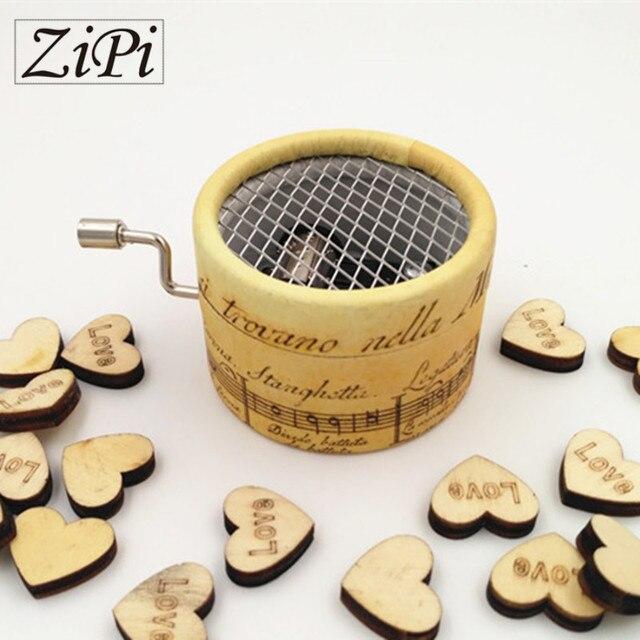Zipi Music box paper round hand crank 18 Tones music box movement DIY romantic music christmas present Birthday present