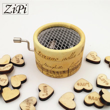 Zipi Music box paper round hand crank 18 Tones music box movement DIY romantic music christmas present Birthday present