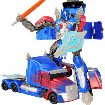 19cm Transformation Car Robot Toys Bumblebee Optimus Prime Megatron Decepticons Jazz Collection Action Figure Gift For Kids - F
