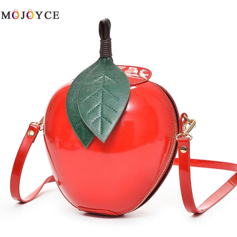 Famous Brand Red Apple Bag Women Crossbody Bags Fashion Female Messenger Bags Leaves Mini Bags for Teenager Girls