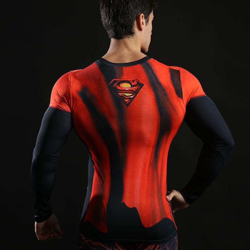 Fitness Compression T-Shirts Herrar Superhero Marvel Captain - Herrkläder - Foto 4
