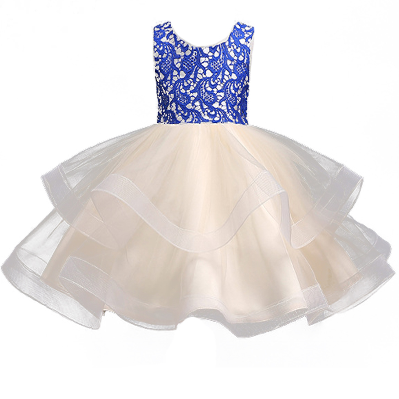 New Arrival Baby Girls Princess Dress Kids Communion Clothes Toddler Baby Tulle Tutu Clothes Flower Girls Summer Party Vestidos 2018 toddler girls dress fashion princess tutu dresses holiday big bow bling baby clothes kids clothing new arrival