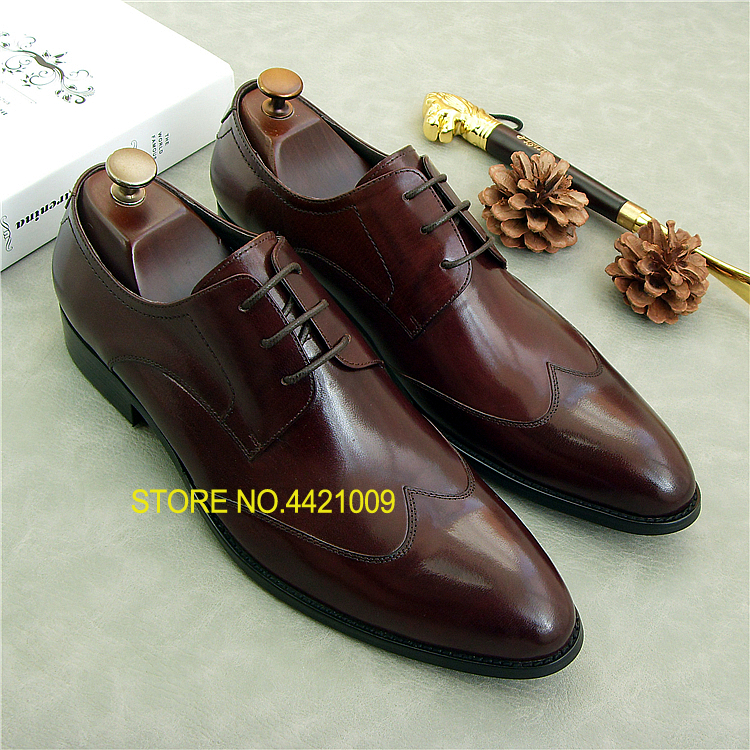 Real Leather Fashion Oxfords Shoes 2018 Wedding Party Tuxedo Dess Oxfords Shoes Lace up Black Brown Mens Italian Oxfords ShoesReal Leather Fashion Oxfords Shoes 2018 Wedding Party Tuxedo Dess Oxfords Shoes Lace up Black Brown Mens Italian Oxfords Shoes