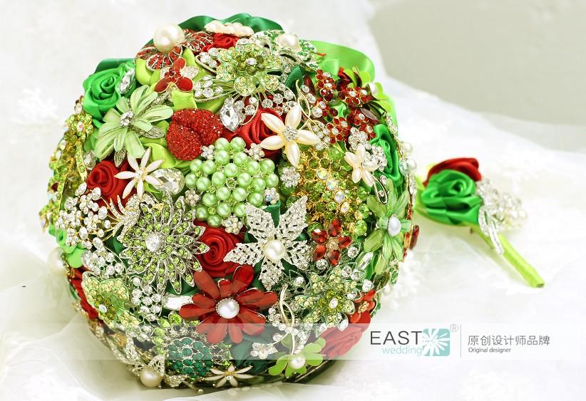 Christmas Theme Brooch Bouquet Advanced Custom Wedding Bridal