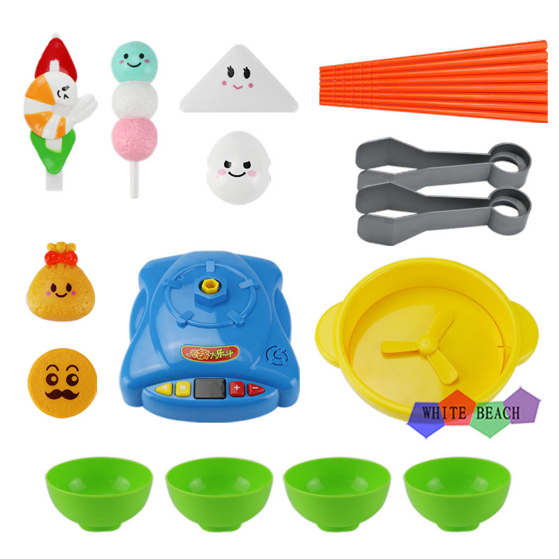 Play House Cooking Toy Kitchen Set Funny Hot Pot Game Six Different