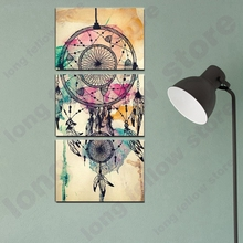 3 Pieces HD Print Watercolor Retro Poster Indian Dream Catcher Wall Art Canvas Paintings for Bedroom Lobby Decor Dropship