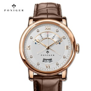 Image 2 - Switzerland Luxury Brand PONIGER Mens Watch Japan NH35A Automatic Mechanical MOVT Watches Men Double Dial Sapphire Clock P719 4