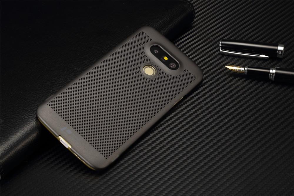Luksusowa marka ultra thin Nowy siatka powrót pokrywy skrzynka dla LG przypadkach i pokrowce na g5 G5 oryginalne akcesoria 3