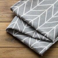 Decorative Europe Style Geometric Cotton Linen Napkin Home Textile Table Napkins Cloth Napkin Hotel Restaurant Tea