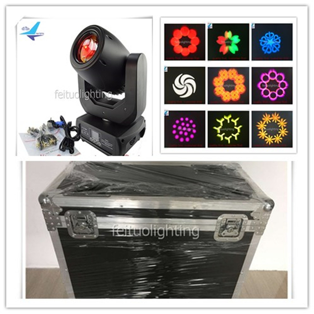 DMX stage light spot led moving head 150w Lyre led spot moving head with flight case