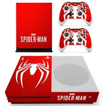 Marvel Spiderman Skin Sticker Decal For Microsoft Xbox One S Console and 2 Controllers For Xbox One Slim Skin Sticker стоимость