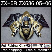 Средства ухода за кожей для KAWASAKI NINJA ZX 6R 600CC 6 R ШАМПАНСКОЕ ZX636 2005 2006 55HC. 2 ZX-636 ZX6R 05 06 ZX600 ZX 636 ZX-6R 05 06 обтекатель