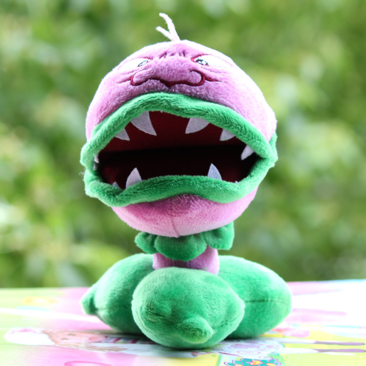 16cm Plants Vs Zombies Soft Plush Pp Cotton Chomper(open Mouth) Toys for Baby Kids Gifts