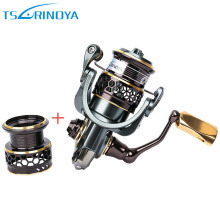 TSURINOYA Jaguar 1000 Spinning Fishing Reel with Spare Spool 9+1BB 5.2:1 Carp Fishing Coils Aluminum Spool Carretes De Pescar