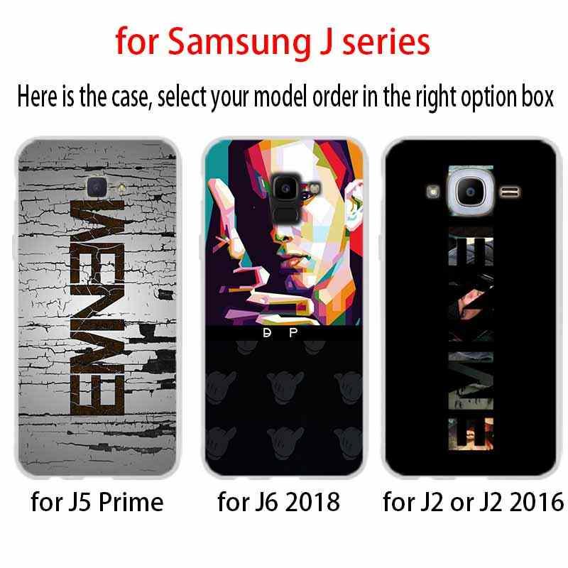 Мягкий чехол для телефона чехол в стиле «хип-хоп», реперские кепки Эминем для Coque samsung Galaxy J6 J4 J8 J7 2018 плюс J3 J5 J7 премьер-профессионал 2017 2016 Casse