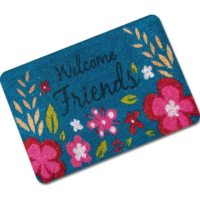 MDCT Forest Tree Flower Printed Welcome Friends Mats Hallway Bedroom ...