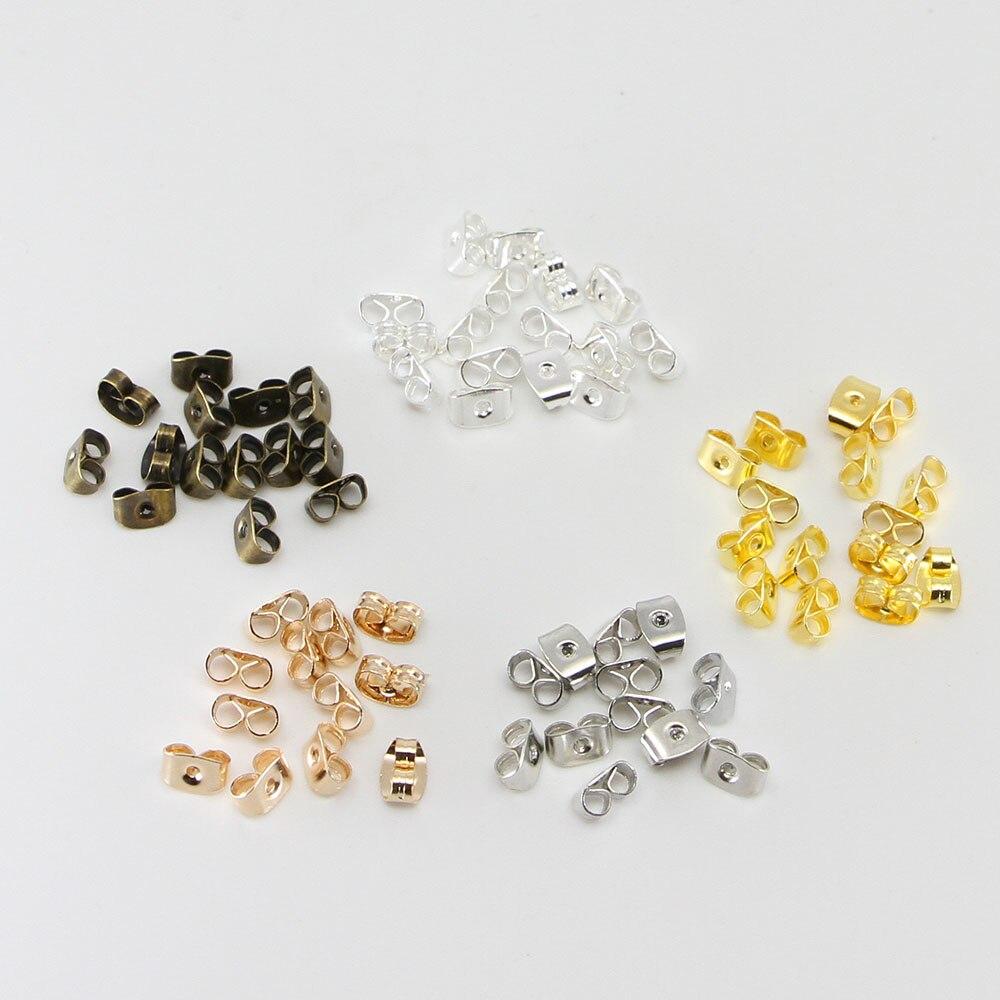 200//600pcs Hot New Soft Clear Earrings Stud Accessory Rubber Ear Plug Cap