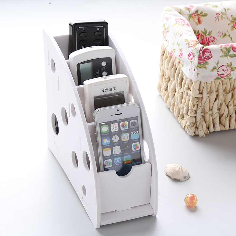diy desk remote controller storage box holder tv dvd vcr step mobile phone holder stand stationery