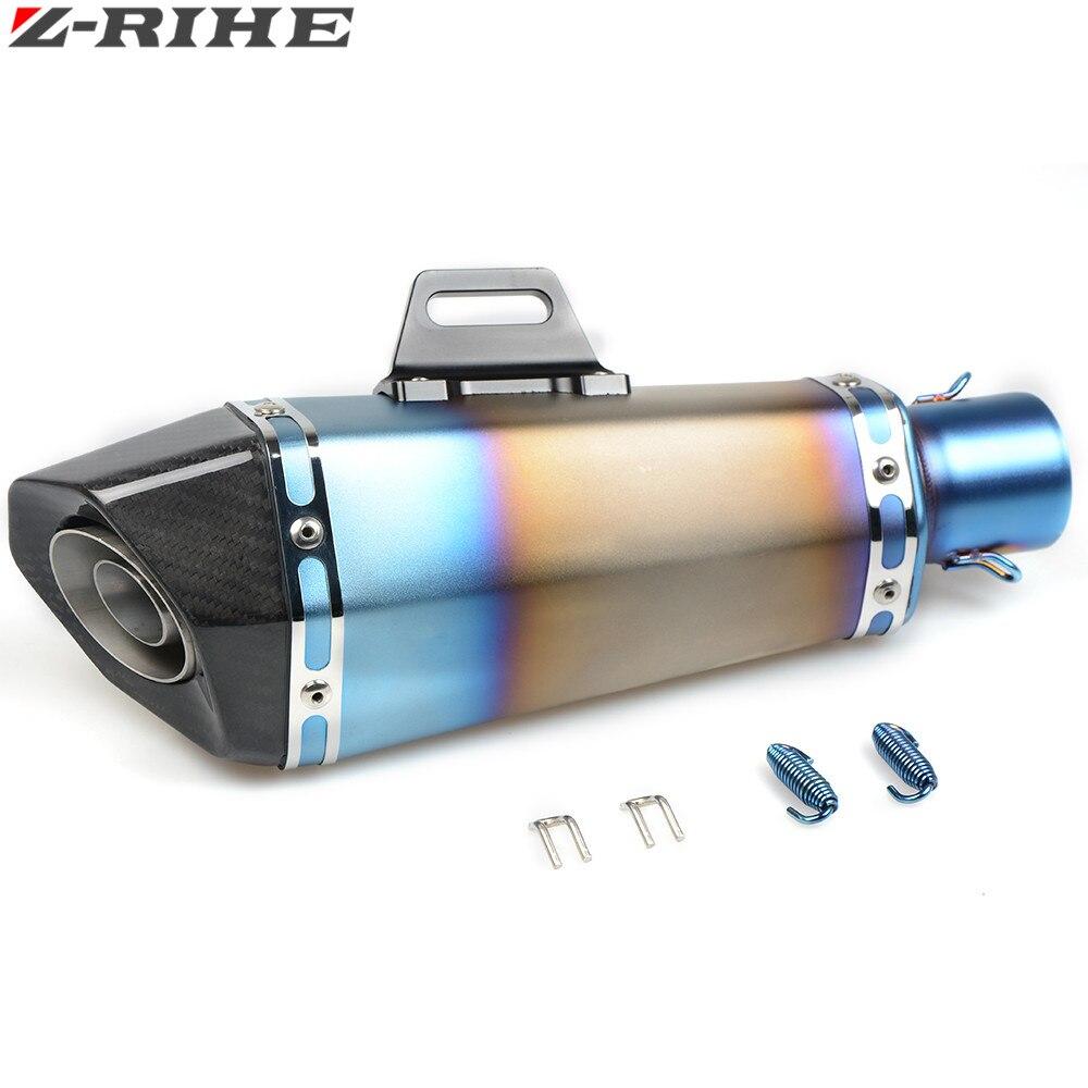 Дело Труба глушителя для Хонда CBR1000 для Ямаха Р6 для Kawasaki Z250 Z750 z800 для выхлопных 36-51 мм Универсальный мотоцикл выхлопной