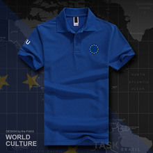 European Union United in Diversity EU EUR polo shirts men short sleeve brands printed for country 2018 cotton nation team 20