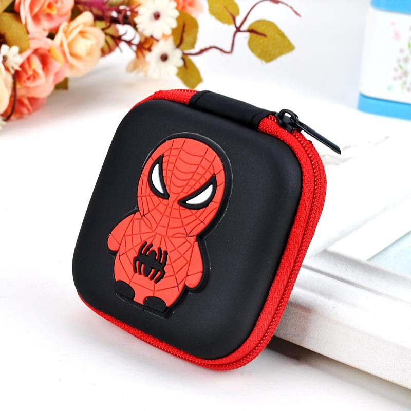 2017 New Anime Cute Wallet Cartoon Spiderman Silicone Coin Purse Rectangle Headset Holder Case Gift Kids Coin Key Mini Wallets 5 pcs lot cartoon anime wallet wholesale nintendo game pocket monster charizard pikachu wallet poke wallet pokemon go billetera
