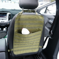 Tactical Molle Car Seat Organizer 1000D Nylon Seat Back Organizer Automobile Hunting Bag Molle Pouch Car