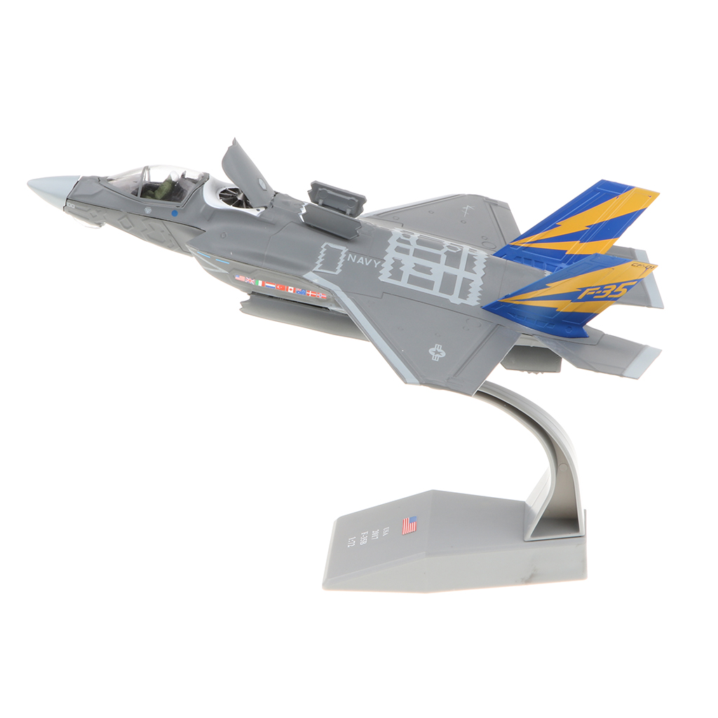 1:72 Alloy Army Diecast USA F-35B Fighter Plane Aircraft Model Figurine Display Collectibles Table Ornament brand new terebo 1 72 scale fighter model toys russia su 34 su34 flanker combat aircraft kids diecast metal plane model toy