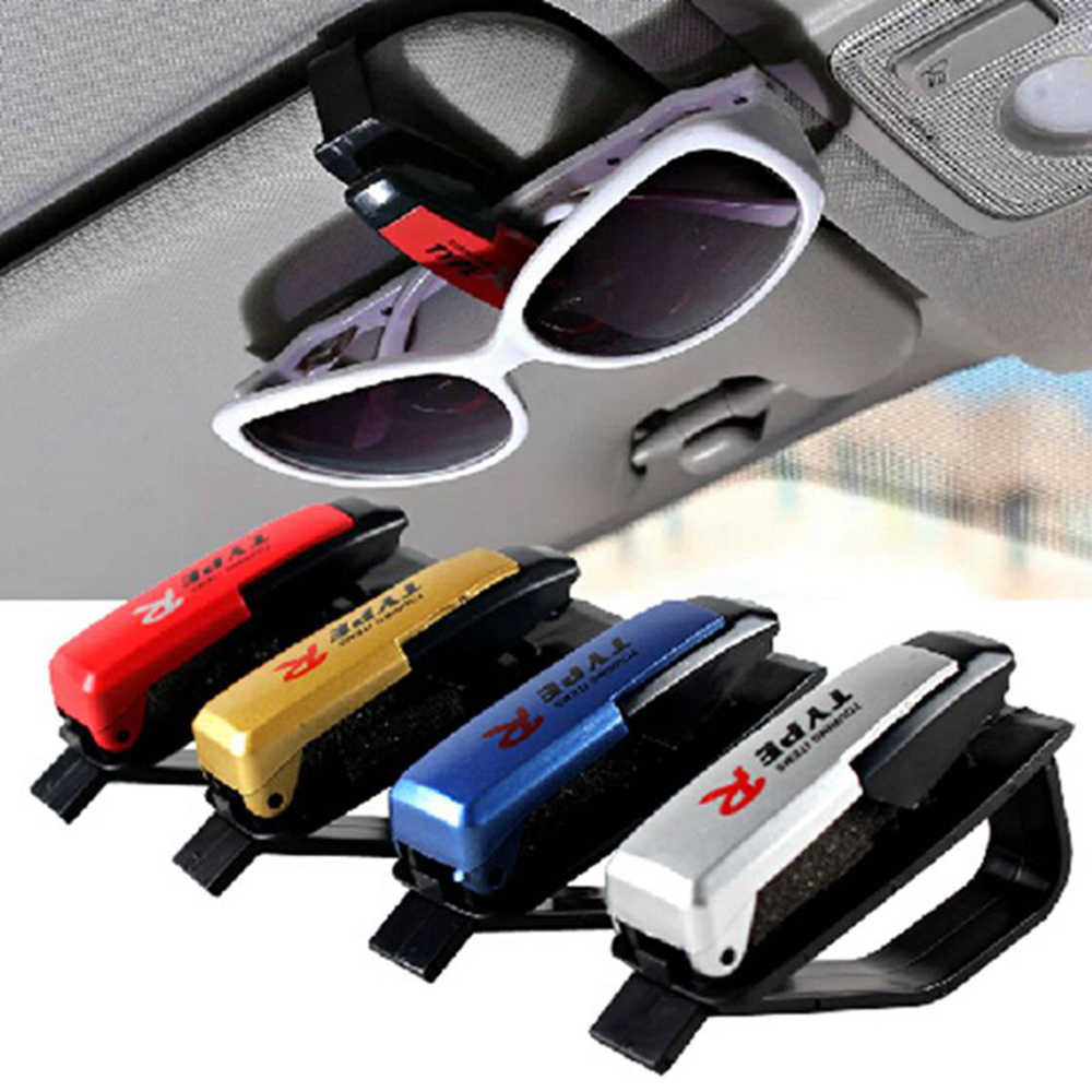 Universal Car Glasses Cases Ticket Card Clamp Portable Eyeglasses Clip Car-styling Car Sun Visor Sunglasses Holder Fastener Cip