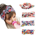Baby Print Design Bow Hairband Kids Girl Child Toddler Infant Flower Floral Turban Knot Headband Headwear Hair Band Accessories