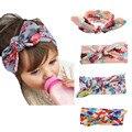 Bebé de la impresión del diseño de Hairband del arco muchacha de los cabritos bebés y niños pequeños niña Floral de la flor del nudo turbante Headwear venda del pelo accesorios