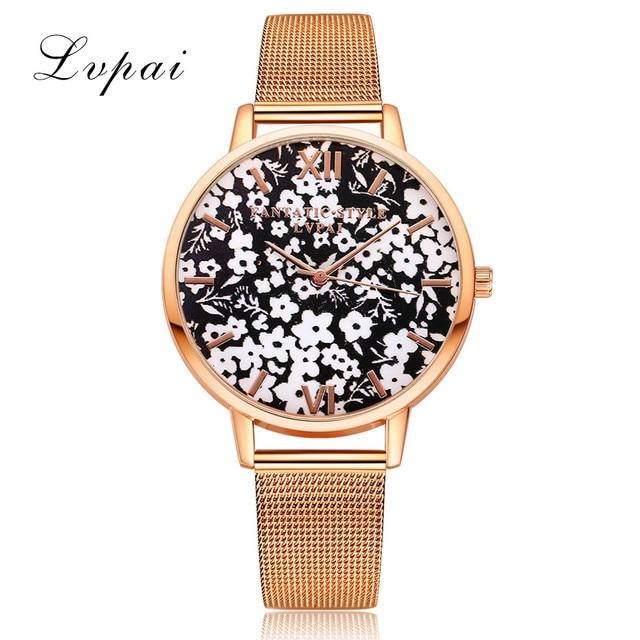 Lvpai Brand Luxury Women Bracelet Watches Fashion Women Dress Wristwatch Ladies
