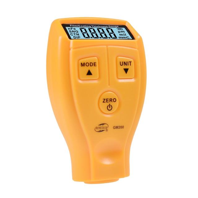 Portable Mini Film/Coating Thickness Gauge Digital Automotive Coating Ultrasonic Paint Iron Thickness Gauge Width Measure Meter
