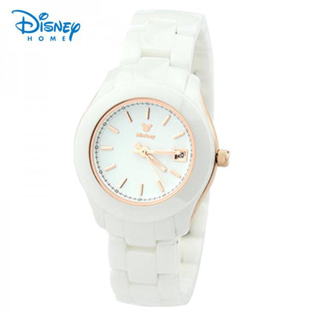 100% genuine disney relógio de quartzo mulheres moda pulseira de aço inoxidável marca de luxo relógios senhoras vestido relógios reloj mujer