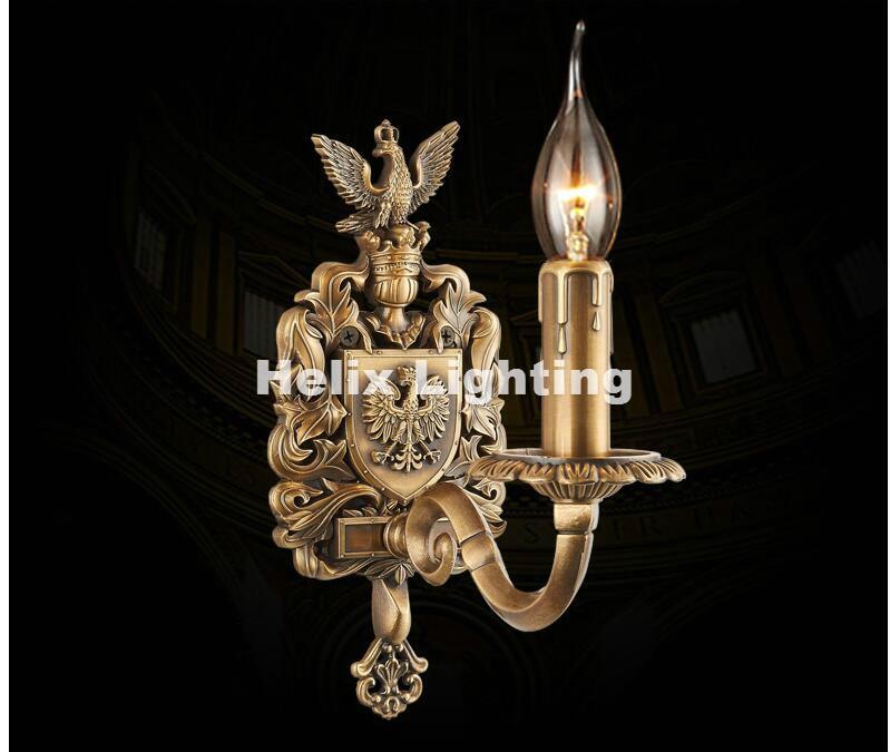 Free Shipping W11cm H24cm Antique Brass E14 LED Wall Lamp Living Room Wall Light Lamparas de pared applique murale Luminaire antique brass wall lamp 100