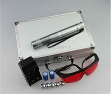 NEW Special offer Strong power military 100w 100000mw blue laser pointers 450nm burning match/dry wood/burn Cigarettes+5 caps