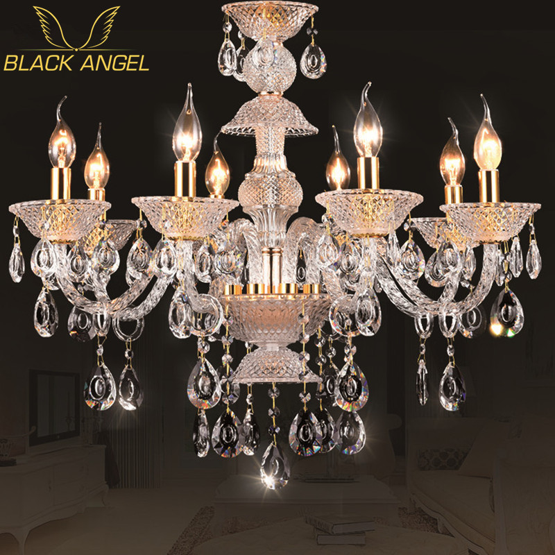 Modern Crystal LED Chandeliers for home decor lustres de cristal living room pendant lamp luxury indoor Christmas lighting modern crystal chandelier led hanging lighting european style glass chandeliers light for living dining room restaurant decor